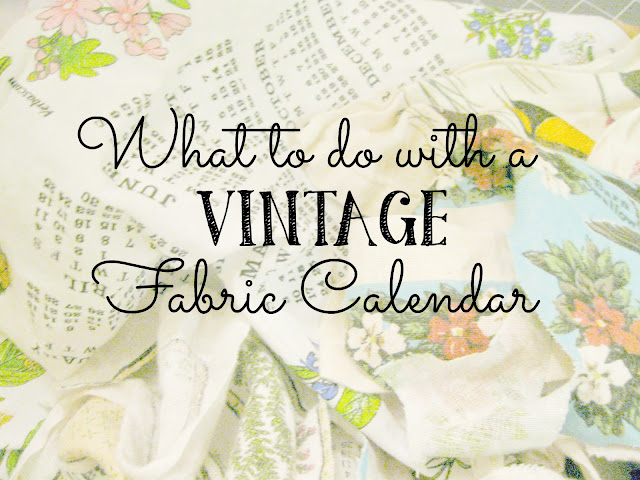 Vintage Fabric Calendar Crafts