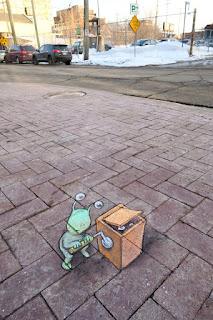 Seni Menggambar 3D di Jalanan dengan Kapur Yang Keren Kreatif dan Sangat Menginspirasi-6