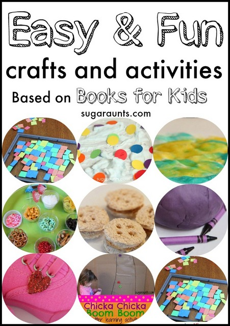 Activities and crafts based on Preschool and Toddler books.  This blog has so many quick and easy ideas for kids!