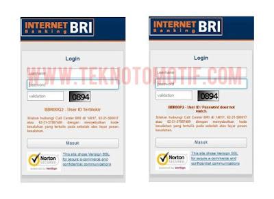 Cara Mengatasi Kode Kesalahan BBR00P2, BBR00Q2 Dan BBR00C2 Internet Banking BRI