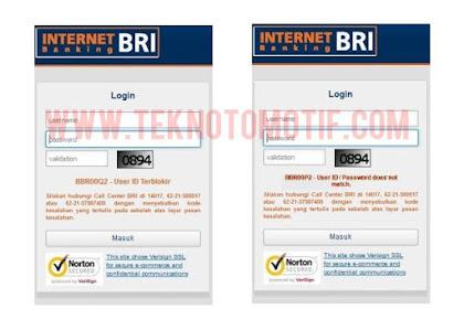 Penyebab Dan Cara Mengatasi Kode Kesalahan BBR00P2, BBR00Q2 Dan BBR00C2 Internet Banking BRI