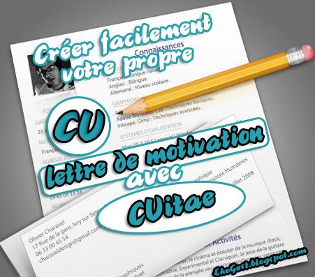 Créer et gérer facilement votre propre CV et lettre de motivation avec CVITAE