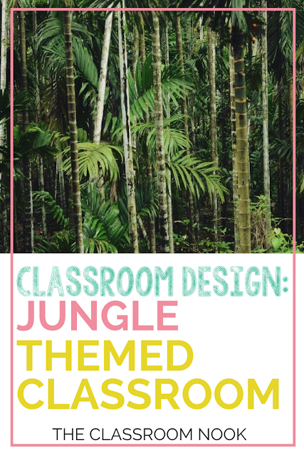 Create a jungle themed classroom during this back to school season with these tips and ideas for bulletin board displays, classroom accessories, printable resources, and more!  Perfect for any elementary classroom.#classroomdecor #backtoschool #jungletheme #teacher #classroom