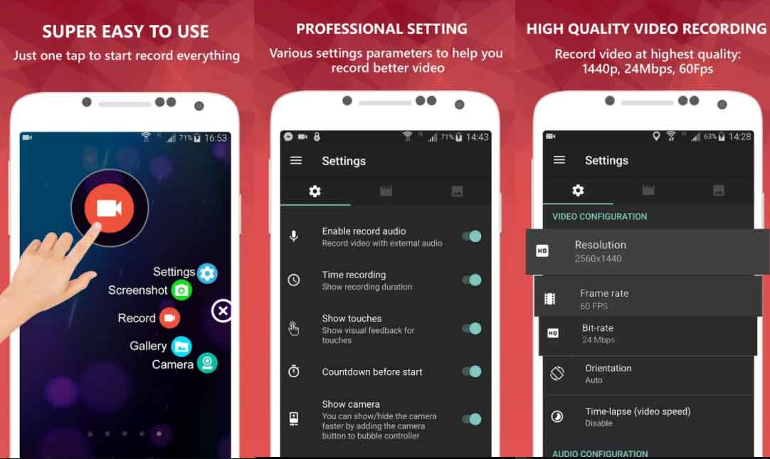 5 Best Screen Recording App for Android   Best Screen