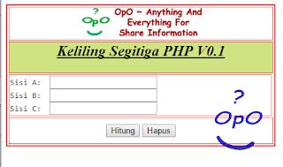 OpO - Menghitung Keliling Segitiga Menggunakan PHP Dan HTML
