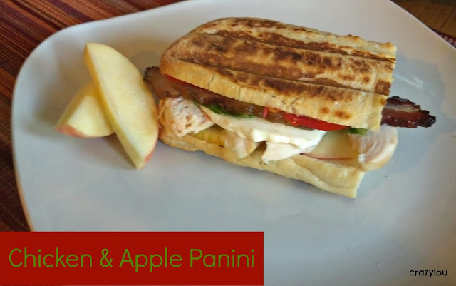 Chicken & Apple Panini--perfect fall time sandwich