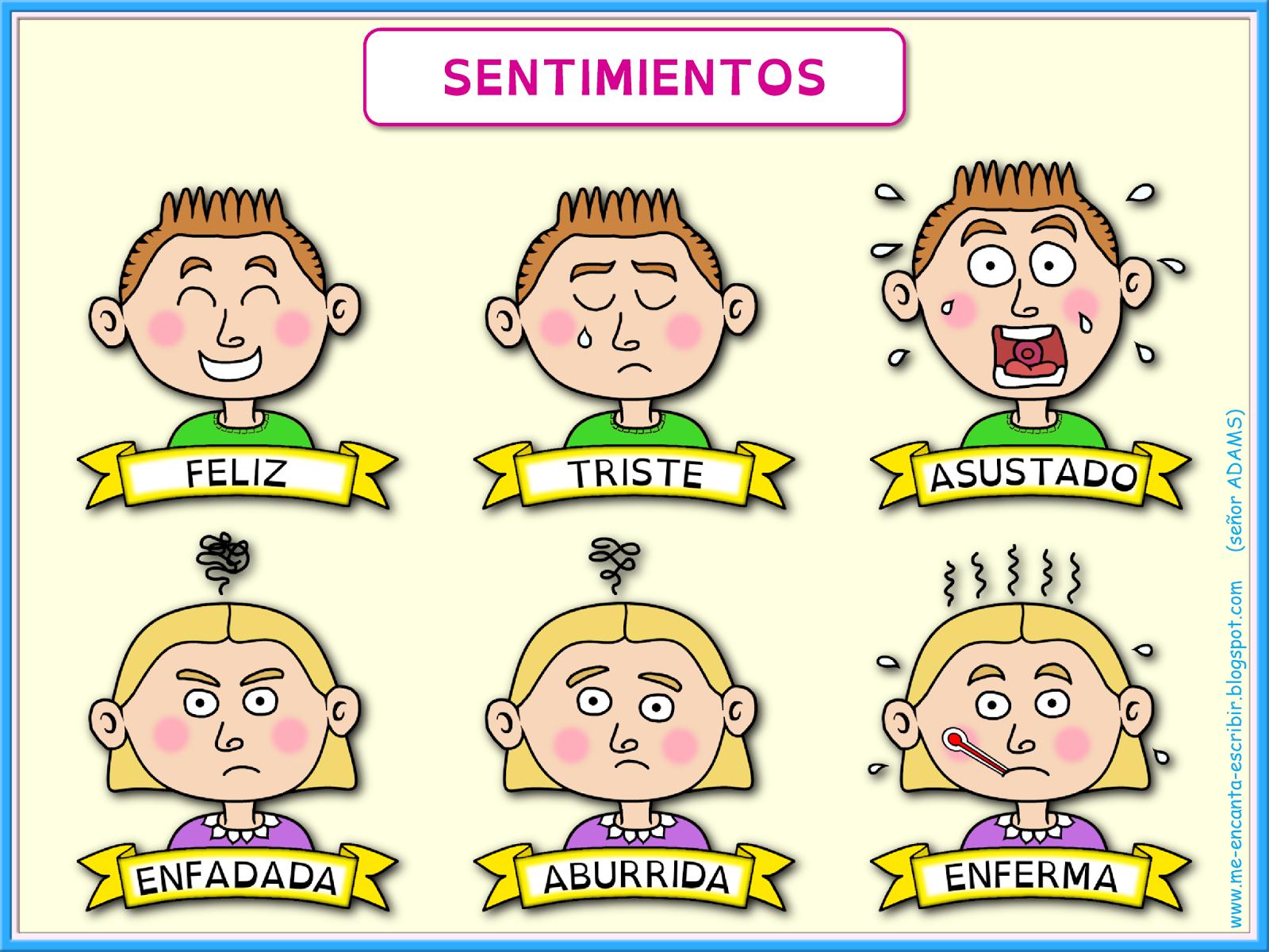 Me Encanta Escribir En Español Los Sentimientos