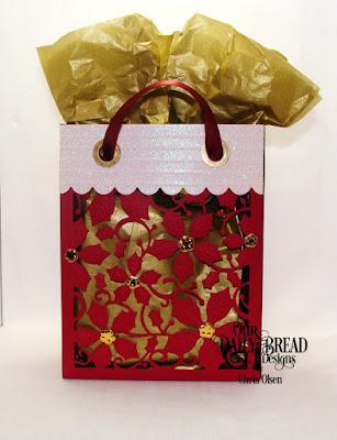 ODBD Custom Dies: Card Caddy & Gift Bag, Gift Bag Handles & Topper, Poinsettia Inset