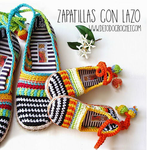 Zapatillas con lazo para el tobillo superlindas / Paso a paso
