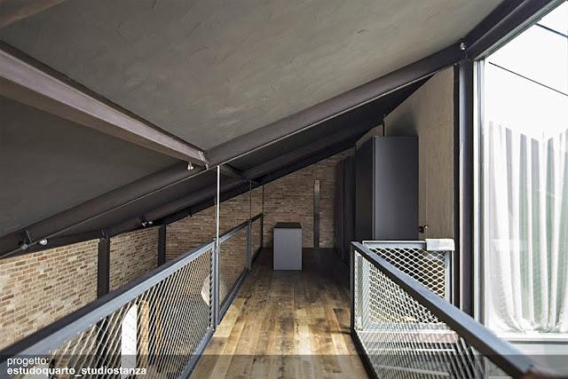 pavimento in legno industriale loft brescia