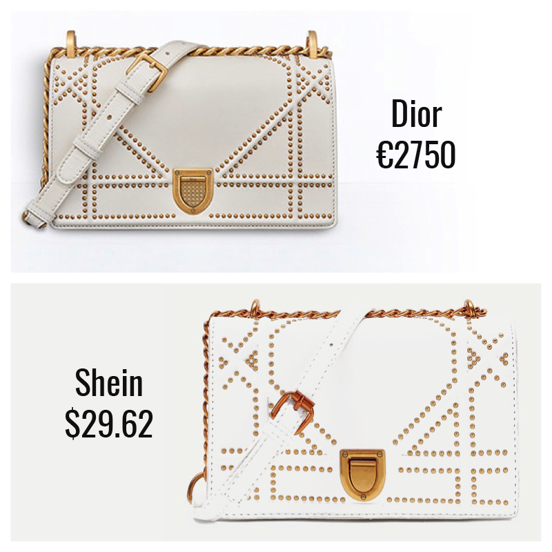 3530f8fbe Dupe  Shein Studded Detail Flap Crossbody Bag ( 29.62) This is a very  distinctive design and if you are into the distressed kind of look