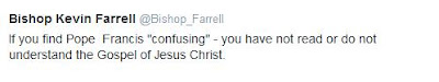 Bishop Farrell tweets