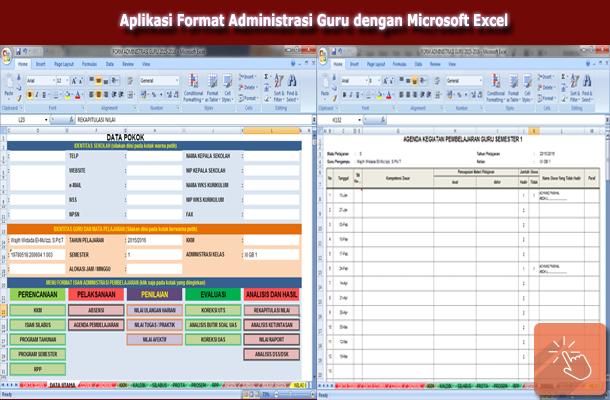 Aplikasi Format Administrasi Guru dengan Microsoft Excel