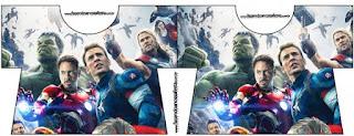 Tarjeta con forma de camisa de Vengadores