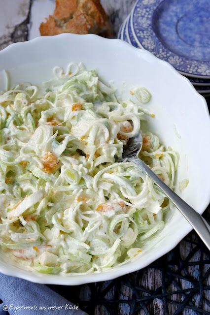 Fruchtiger Porree Salat | Essen | Rezept | Partyfood | kalte Küche