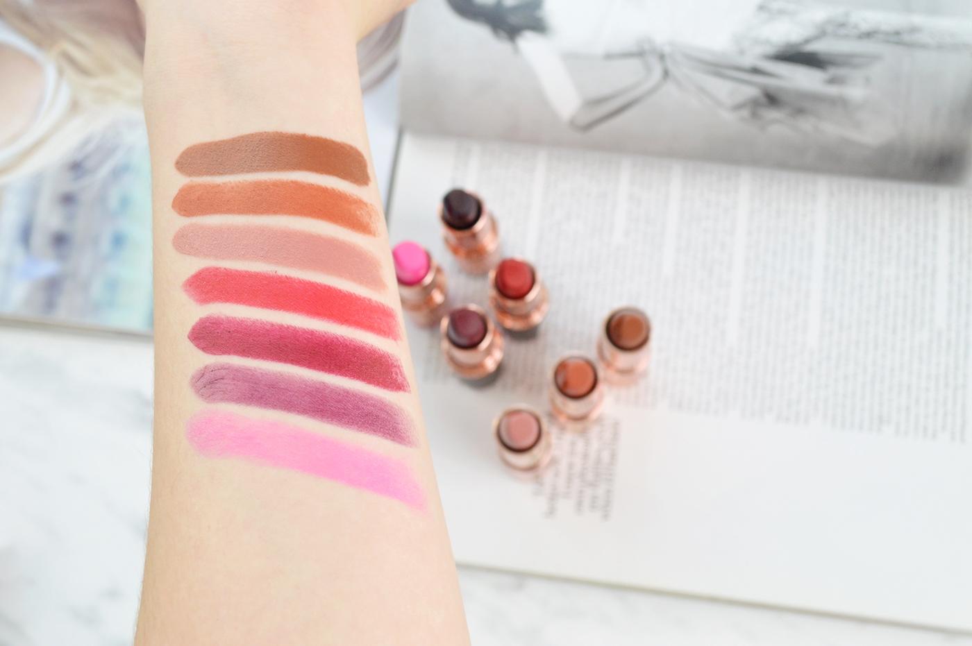 pomadki makeup revolution swatche pomadek blog