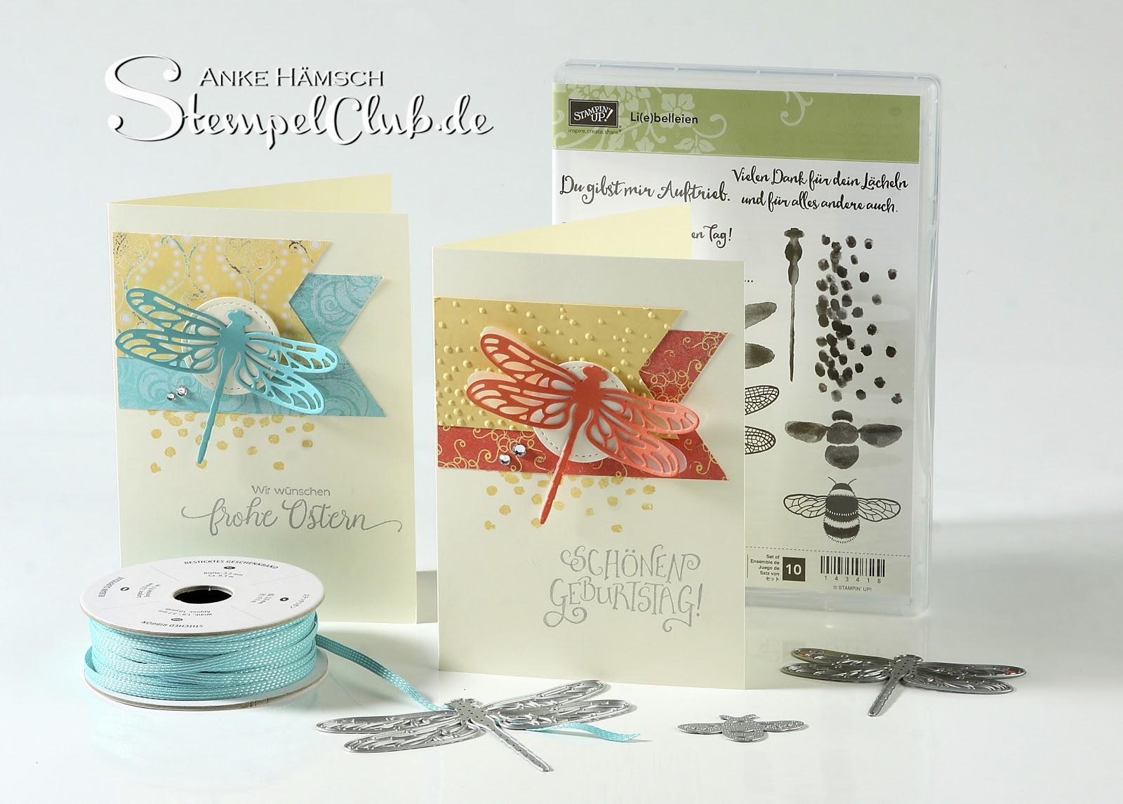 Grußkarte mit dem Produktpaket Li(e)belleien aus dem Mini-Katalog von Stampin' Up!
