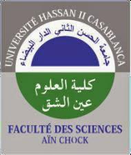 Masters et les Masters Spécialisés Faculté des Sciences Ain Chock Casablanca