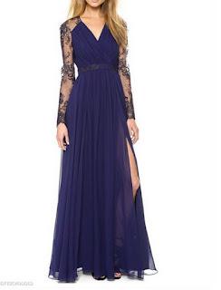 https://www.fashionmia.com/Products/v-neck-patchwork-ruffled-hem-side-slit-back-hole-lace-plain-evening-dress-220459.html