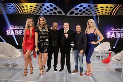 Lola, Ciça, Marcelinho, Raul Gil, Thammy e Val (Crédito: Rodrigo Belentani/SBT)