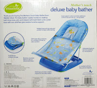 2 Mastela Mother's Touch #07260 Deluxe Baby Bather with Removable Head Support Cushion