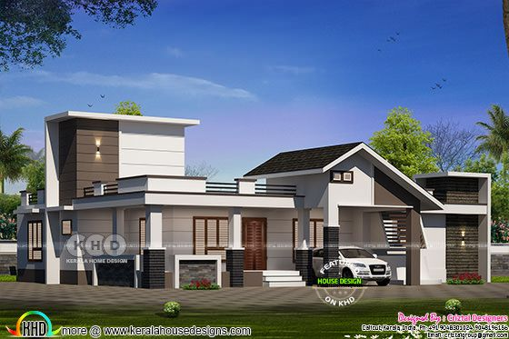 2010 square feet modern single floor 3 bedroom home