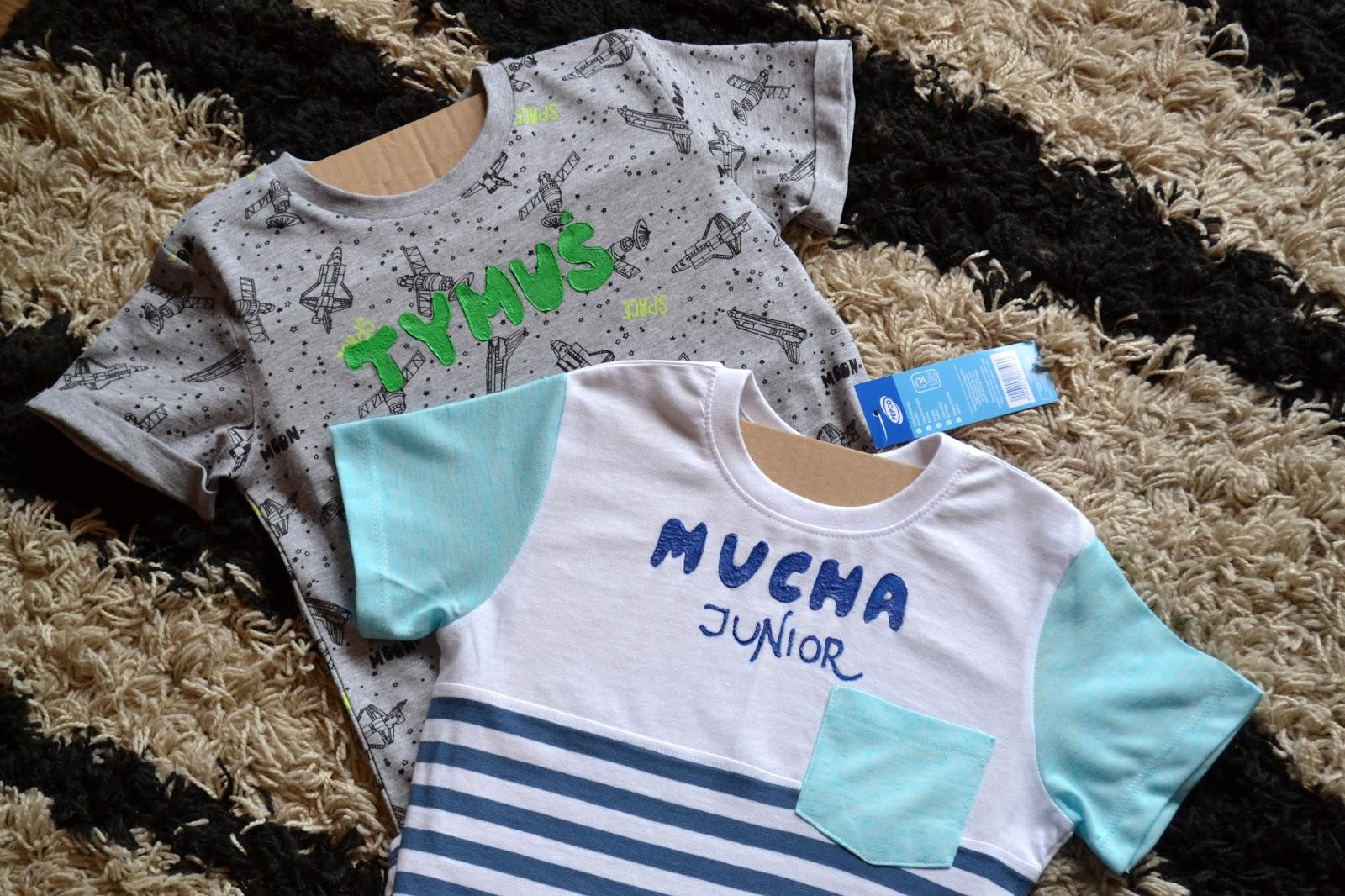 Potrzeba matką wynalazku i malowane koszulki Tymusia