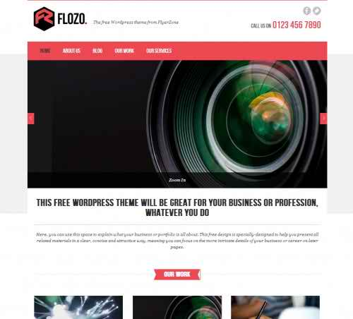 FLOZO - free WordPress blog theme