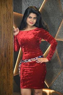 Alekhya Kondapalli Photos in Red Mini Dress
