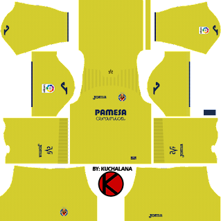 Villarreal CF 2017/18 - Dream League Soccer Kits