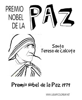 Premio Nobel de la Paz 1979 colorear