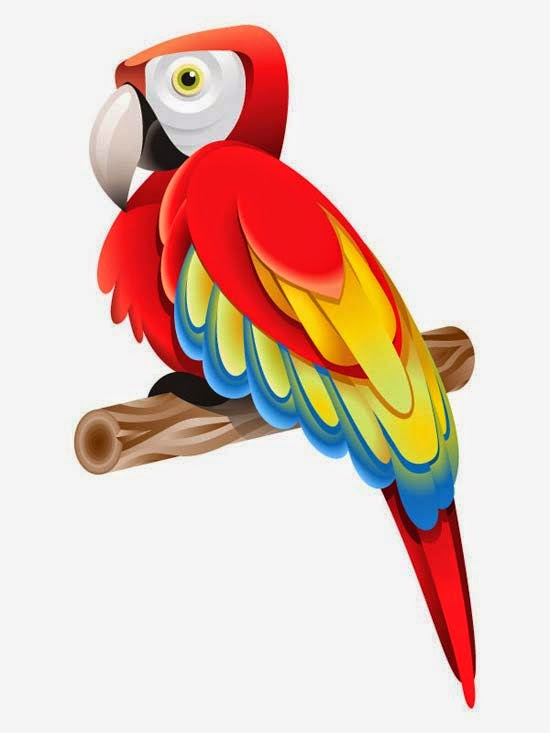 How to Create a Colorful Parrot using Gradients in Adobe Illustrator