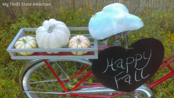 vintage garden bike decorated for fall