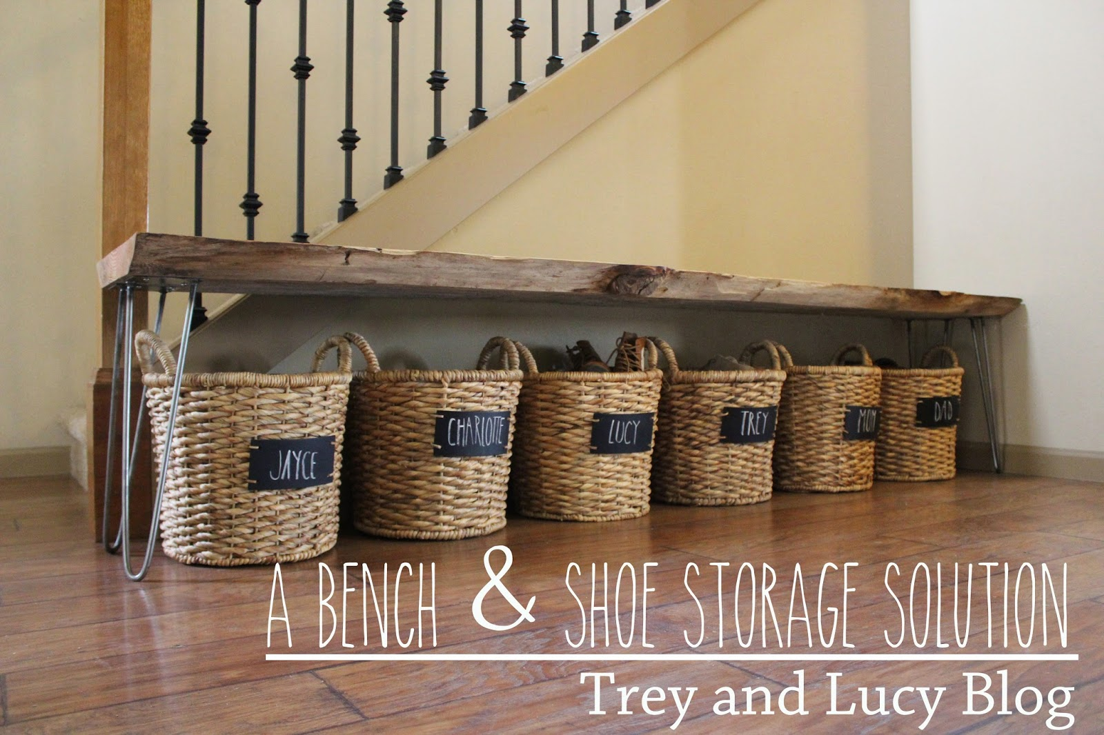 Trey and Lucy: A Bench & Shoe Storage DIY