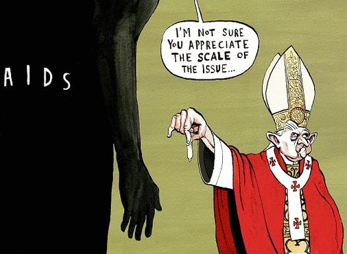 says are o k pope condoms