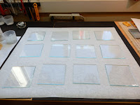 Lay out squares of clear