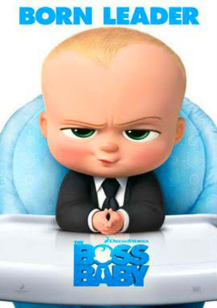 Poster of The Boss Baby 2017 HDRip 720p Dual Audio In Hindi English