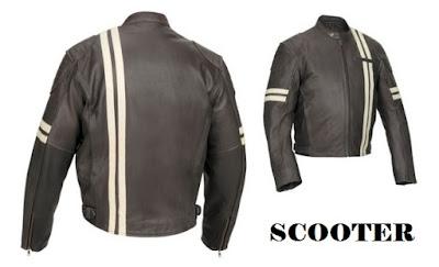 Jaket kulit vespa scooter vintage