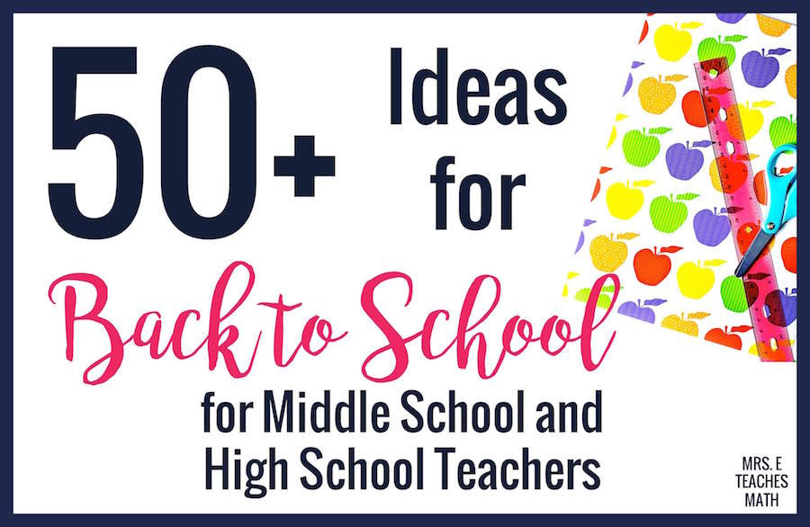These first day of school tips and ideas for teachers are perfect for back to school!  If you're looking for classroom decor, teacher organization, classroom management tips, all about me activities, or interactive notebook tips, you can find them all here! #mrseteachesmath #firstdayofschool #backtoschool