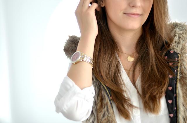 faux fur gilet outfit for autumn winter