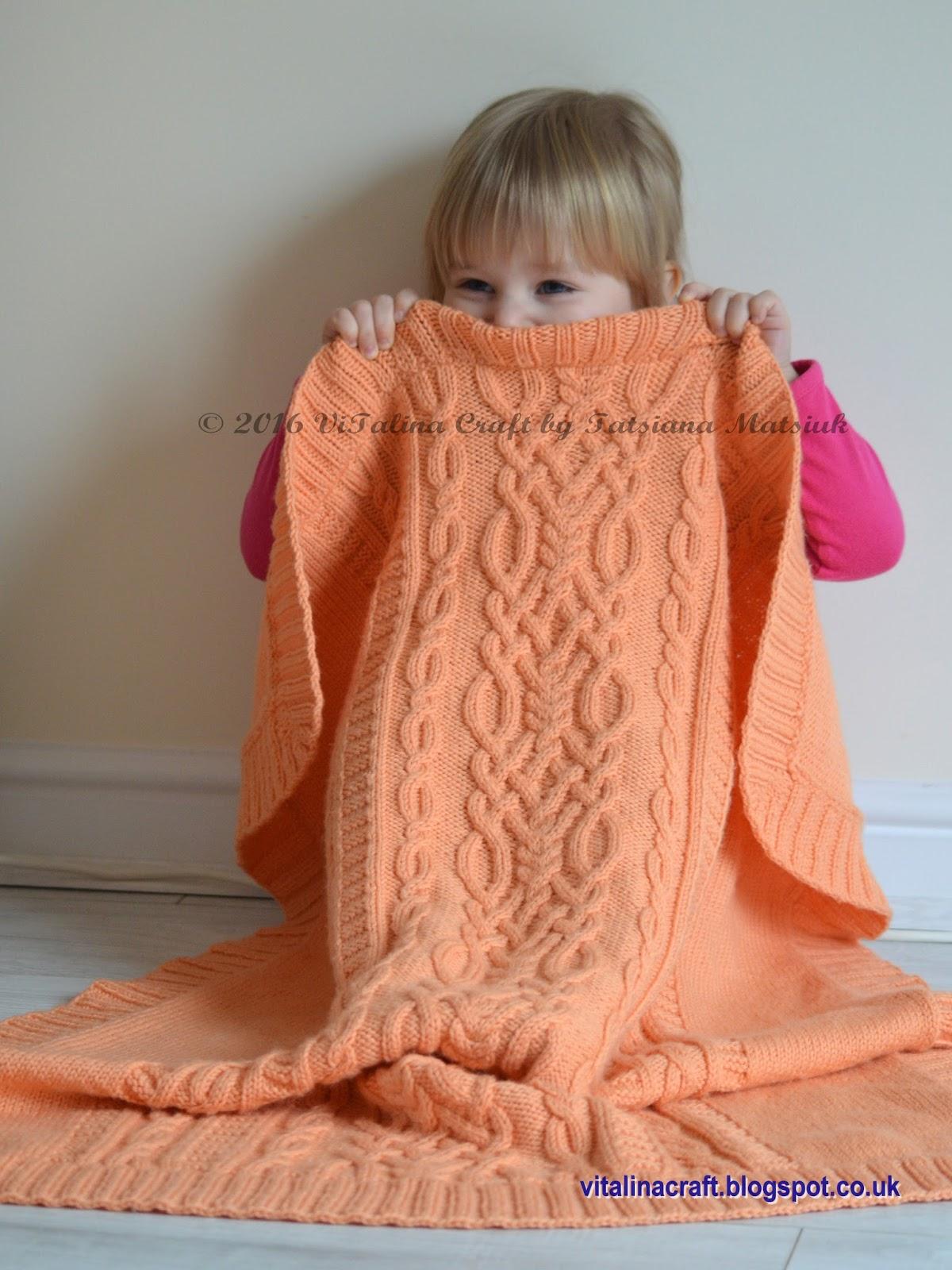 Cable Fantasy Baby Blanket ViTalina Craft