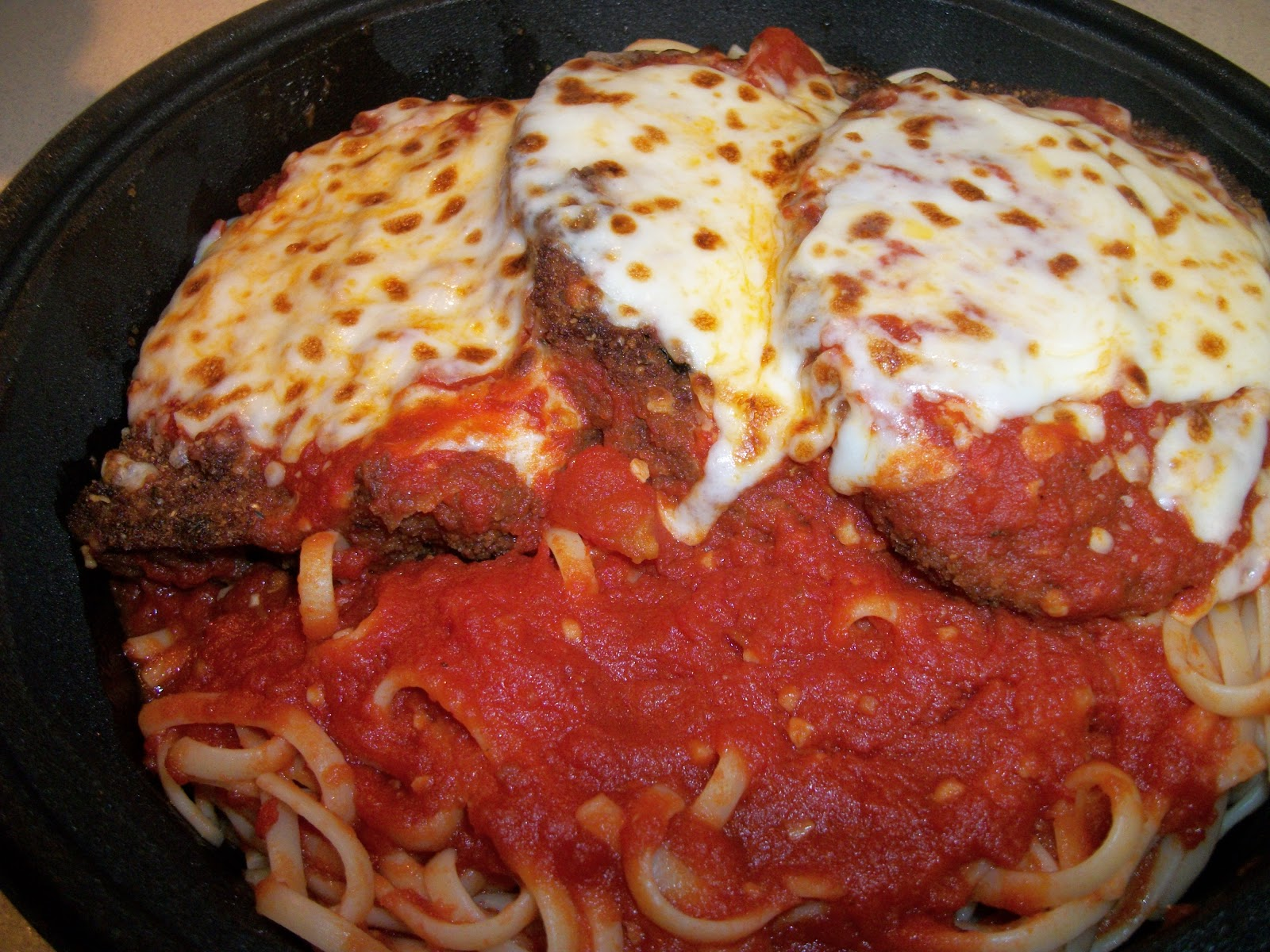 Eggplant Parmesan from Zio's (Personal Photo)