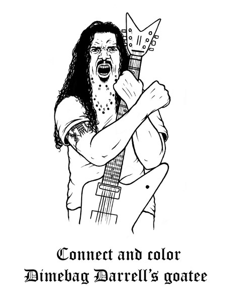 heavy metal coloring pages - 10 bizarre coloring books for adults mental floss