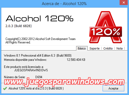 Alcohol 120% v2.0.3.8703 ESPAÑOL PC Full