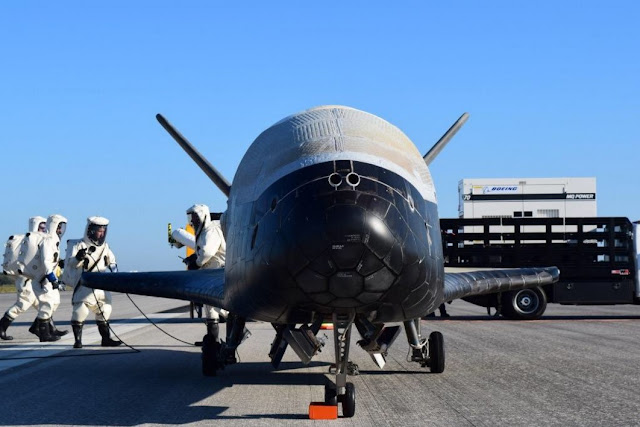 X-37B Orbital Test Vehicle-4 Lands