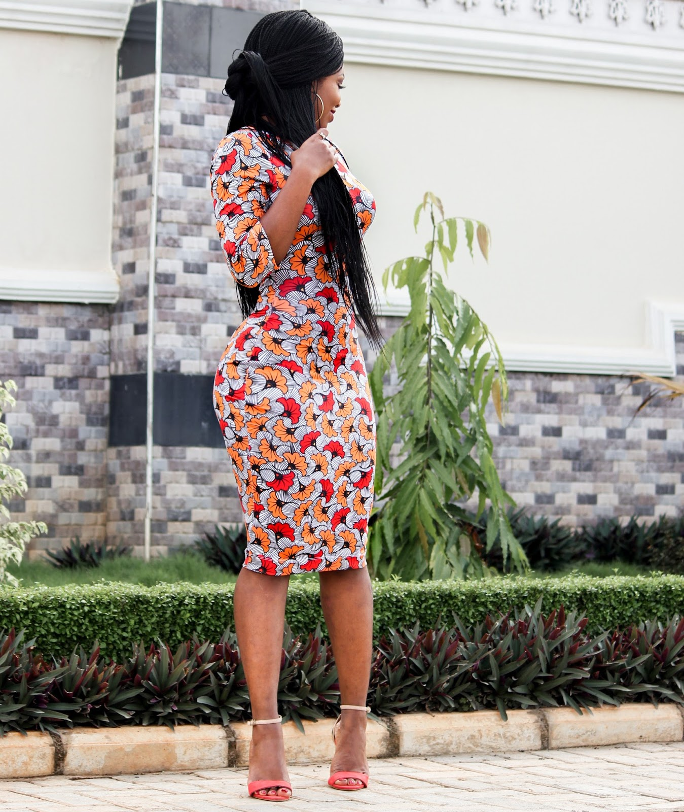 AFRICAN PRINT WITH A TWIST - Zakaara African Custom Stretch Print  Dress