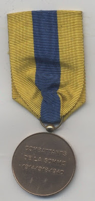 Simple inscription on the other side of the medal.