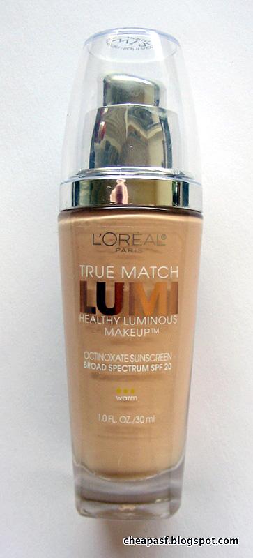 Review of L'Oreal True Match Lumi Healthy Luminous Makeup in W1-2 (