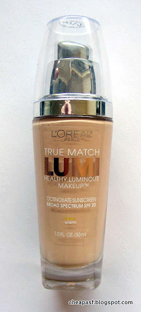Review of L'Oreal True Match Lumi Healthy Luminous Makeup in W1-2 (Porcelain Ivory)