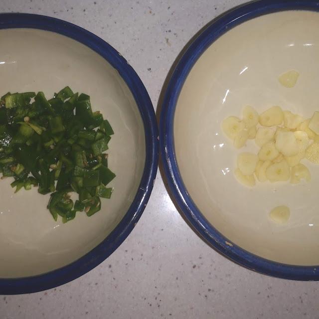 pimiento y ajos